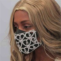 Heart Shaped Water Drill Mask Decoration Accessories Net Red New Strange Nightclub Party