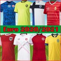 Euros 20 21 Jerseys Soccer Slovaquie Hamsik Suisse Embolo Finlande Suède Danemark Autriche Tchèque Hongrie 2021 Chemise de football Top Kit Ramos Camisetas de Futol