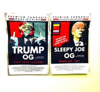 3,5 g Trump Sleepy Joe Biden Borsa da imballaggio Flower con cerniera Stand Up Pouch 2021DG 500 mg