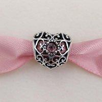 AnnaJewel January Signature Heart Birthstone Charm 925 Sterling Silver Beads Fits European Pandora Style Jewelry Bracelets 791784GR Birthday Gift