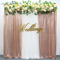 Shiny Gold Sequin Wedding Backdrop Curtain Birthday Party Baby Shower Event Decor Photography Fabric Curtain Panel Photo Props