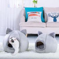Cat Beds & Furniture Dog Long Plush Dounts Pet Kennel Super Soft Fluffy Comfortable Bed House Puppy Cushion Mat Supplies