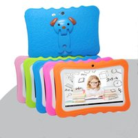 Kids Brand Tablet PC 7 inch Quad Core children tablet Android 4.4 Allwinner A33 google player wifi big speaker protective cover L-7PB