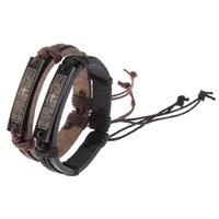Charm Bracelets Metal Bible Verse Lettering Cross Bracelet For Men Prayer Quotes Adjustable Leather Bangles Religious Jewelry