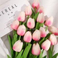 Whtie أحمر مصغرة tulip ريال اللمس الزهور الاصطناعية فو الأزهار الخضراء حزب الزفاف ديكور المنزل