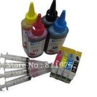 Cartucce d'inchiostro 73 73N T0731N Cartuccia rinillabile per Stylus T13 TX121 C79 C90 c92 C110 CX3900 CX4900 CX5500 CX5600 + 400 ml Dye