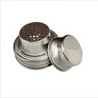304 Stainless Steel Mason Jar Lid Silicone Sealing Plug 70mm Caliber Shaker Lids Rust Proof Drinkware Cover JJA244