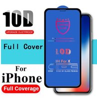 New 10D Tempered Glass Full Cover Screen Protector Film For iPhone 13 Pro Max 12 Mini 11 XS XR X 8 7 6 Plus SE