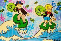 Серфинг Денежный маслом Картина на холсте Домашнее декор Happainted / HD-Print Wall Art Picture Настройка приемлема 21051008