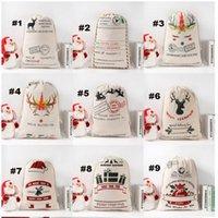 Regalo de año nuevo Santa Sacks personalizado Gran Bolsa de Papá Noel Custom Navidad Bolsas de regalo Bolsas de regalo con cordón de algodón SANT