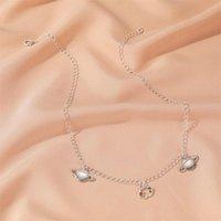 Pendant Necklaces Woman Planet Necklace Women Chain Lovers Jewelry Wedding Silver Color Trendy Kpop Party Zinc Alloy Naszyjnik