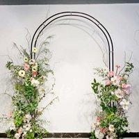 Decorazione del partito all'aperto portello ad arco da sposa all'aperto in ferro battuto giardino giardino decorazione di natale decor sul retro stand flower palloncini archi