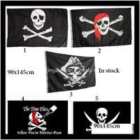 Outdoor Gadgets 90X150Cm Halloween Bar Home Decoration Pirate Flag Prop Festival Jolly Roger Decor Banner Terror Skull Pirates Costume Ayhbj