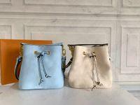 Neonoe BB دلو حقيبة الصيف الأزرق الوردي الأصفر من بركة 2021SS المرأة مصمم الرباط حقيبة يد crossbody مقبض أكياس مع مخلب محفظة محفظة