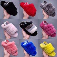 Designer australiano UG Botas Womens Snow Slipper Furry Fuff Yeah Slides Pantoufles Fur Luxo Wgg Sandálias Fluffy 36-43