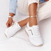 Nowe Kobiety Trampki Lace-Up Wedge Buty Sportowe Kobiety Wolkanizowane Buty Dorywczo Platformy Damskie Sneakers Comfy Women Shoes