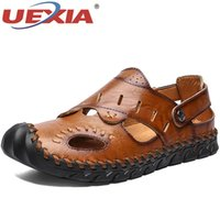 Sandals Classic Roman Fashion Summer Breathable Men's Leather Slipper Outdoor Sneaker Beach Rubber Men Trekking