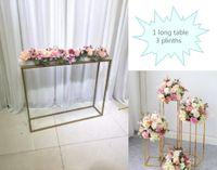 Tabela de ferro Metal plinths para fase de evento pano de fundo Flower Row Centerpiece Casamento Aniversário Festa de Aniversário Bolo Decoração de Stand Decoração