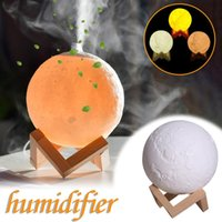 Creative 3d Moon Light Aroma Diffuser Humidifier Usb Small Air Atomizer Essential Oil Home Decoration Fragrance Lamps