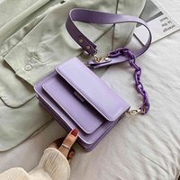 Bags Chain Design Mini Pu Leather Flap for Women 2021 Summer Lady Shoulder Handbag Female Fashion Cross Body Bag G0NP