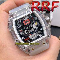 Вечность спортивные часы RRF V2 обновления версии 011 Felipe Massa прозрачный чехол скелет циферблат Япония автоматический механический RM011-FM мужские часы резиновый ремешок 056