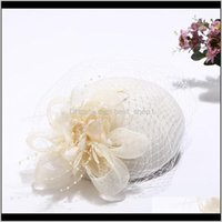 Winter charmante Frauen Sinamay Pillbox Vintage Wolle Filz Hüte Mesh Party Hochzeit Fedoras mit faszinierendem Blumen LM007 H Qylibk Ris3h F3C6X