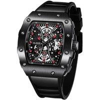 Saatı Su Geçirmez Spor Erkekler Saatler Kauçuk Askısı Kuvars Saatler Moda Rahat Siyah Reloj Deportivo Saat