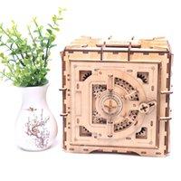 3d الألغاز كلمة المرور الخشبية مربع الكنز الميكانيكية لغز diy تجميعها نموذج 1774 Y2