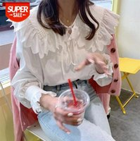 Li Zhiqi Korean version of age-reducing embroidered doll collar loose casual long-sleeved shirt female 110335 #rM61