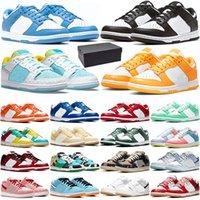 Nike SB Dunk Low  Высокое качество кроссовки для мужчин женщин Бред Тройной Черный Белый Будьте честны Sunrise Sunset аква Мода Мужские Кроссовки Спорт Кроссовки