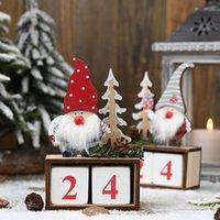 크리스마스 데스크톱 장식 산타 클로스 그놈 나무 달력 출현 카운트 다운 장식 홈 탁상 장식