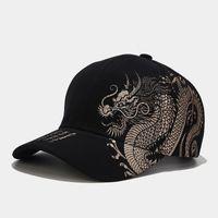 Gorra de béisbol del diseño del dragón chino del béisbol del ocio al aire libre de los hombres con la tendencia de las mujeres del sombrero del sol versátil