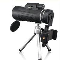 40x60 Telescope monoculaire professionnel HD Mini Handheld avec clip de trépied Clip Tépied Ultra grand angle Goggles rotatifs