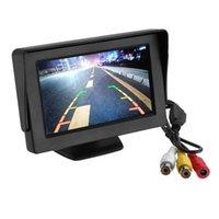 Auto-Video 4,3-Zoll-TFT-LCD-Monitor 150 ° rotierender Reversing-Display-Park intelligentes System für Backup-Rückfahrkamera-Unterstützung DVD