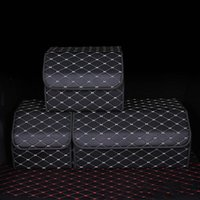 Car Organizer Trunk Box Large Capacity PU Leather Storage Bag Stowing Tidying Folding For Emergency Auto Accessories