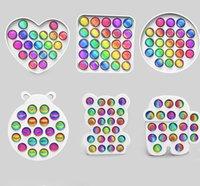 Rainbow Push Popers Bubble Fidge игрушка обновлена версия красочный ABS сенсорное беспокойство рельефы для детей дети декомпрессионные игрушки противосвязные подарок и коробка