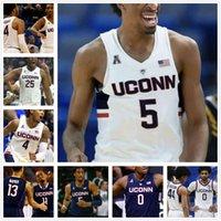 Connecticut Uconn Sernkies كرة السلة جيرسي NCAA College Paige Bueckers Walker Allen Gigi Vital Carlton Tyler Polley Gilbert James Bouknight Adams