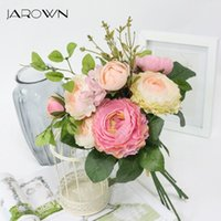 Simülasyon Çay Gül Buket Ortanca Yapay Sahte Çiçek Düğün Gelin Holding Çiçekler Ev Süslemeleri Dekoratif Çelenkler