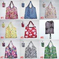 Bolso de compras plegable Creativo Paquete de comestibles portátil transfronterizo 190T Polyester supermercado Shoppings bolsas de perjuicio