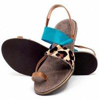 Sagace 2020 Женщины Bech Flip Plops Женщины Сандалии Дамы Мода Повседневная Плоская Обувь Леопардовые Тапочки Летние Удобные Сандалии U3JU #