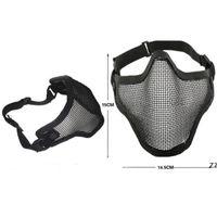 Boutique Tactical Caccia Caccia mentale Mezza Maschera Ambientazione esterna Bicycle Guida all'aperto Campo esterno CS Mesh Airsoft Mask Paintball Resistant HWE7250
