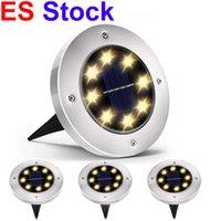 ES Lager Outdoor Beleuchtung Solarlampen 8 LED Powered Plattenlichter Wasserdichte Garten Landschaft Licht für Yard Deck Rasen Patio Patio Walk