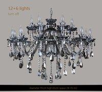 High Quality Smoked K9 Crystal Chandelier Lustre Chandeliers Light Lustres De Cristal LED Villa Lamp