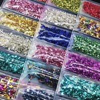 Ayarla Kırık Cam Taşlar Kristal UV Epoksi Reçine Dolgu DIY El Sanatları Nail Art Süslemeleri Takı Yapımı Kalıp Dolguları