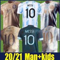 الأرجنتين ميسي لكرة القدم الفانيلة الاستقلال قمصان الذكرى 200th Dybala Maradona Football Jersey Kun Aguero Lo Celso L.Martinez Camiseta De Argentine 21/22 Top