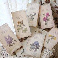Gift Wrap 6pcs Flower Paper Bag Vintage Lace Elegant Bags Bread Candy Packaging Party Wedding Decoration 12x6x22cm