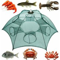 Fishing Accessories Folding Bait Cast Net Trap Lobster Cage Fish Shrimp Mino Crayfish Crab With Rope