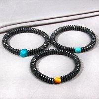 Bracelets de pierre noire naturels Guérison énergétique Thérapie magnétique Bracelet Soins de santé Hématite Stretch perlé, Strands