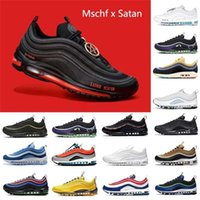 Mschf Lil Nas x Satan Luke inri jesus mens running shoes triple black white metalic gold University Red s undefeated men wome lukas