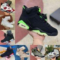 2021 Jumpman Electric Green 6 6S 망 높은 농구 신발 Flint Jordán Carmine DMP UNC 흑인 적외선 영국 카키색 팅커 오레곤 오리 오리 카민 트레이너 스니커즈